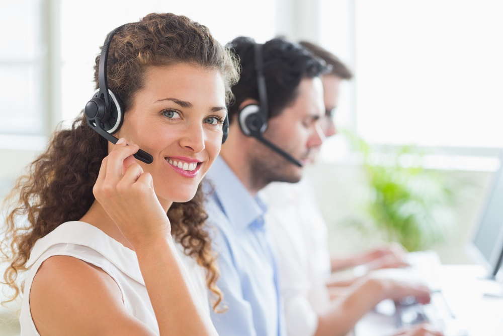 Female customer support agent