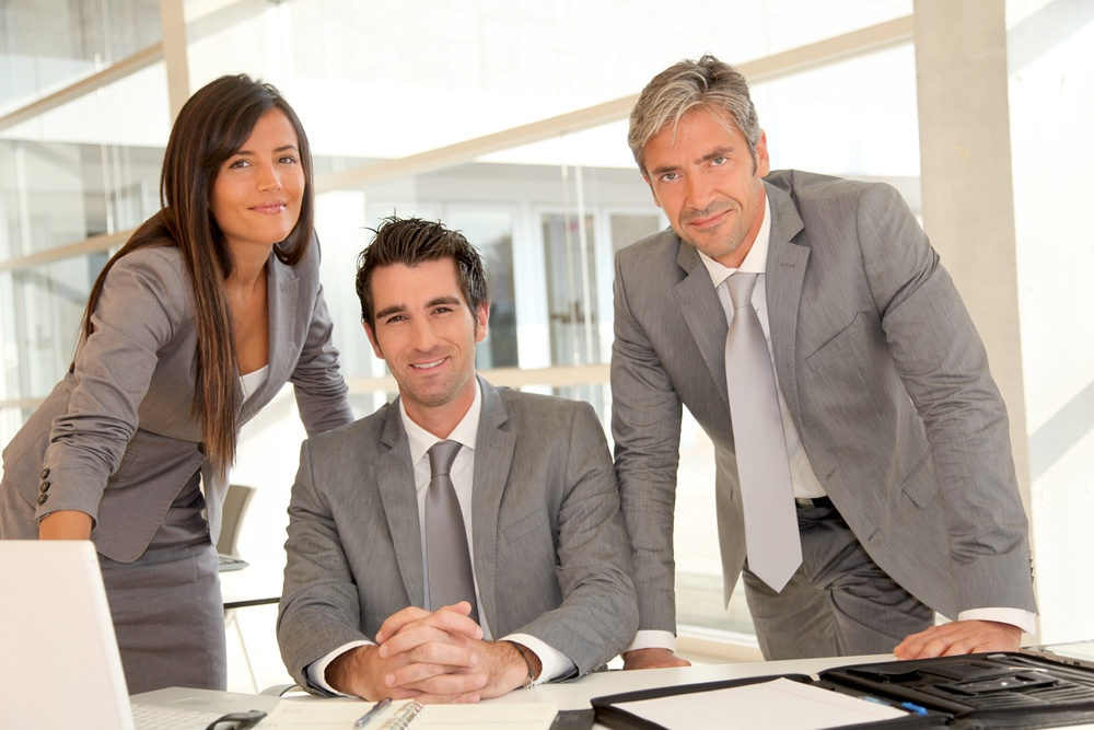 Sales team having meeting