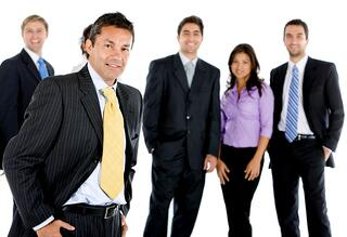 Group of business executives
