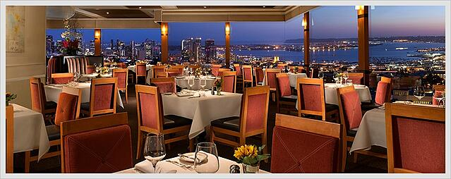 San Diego California Mister A's Restaurant Downtown View