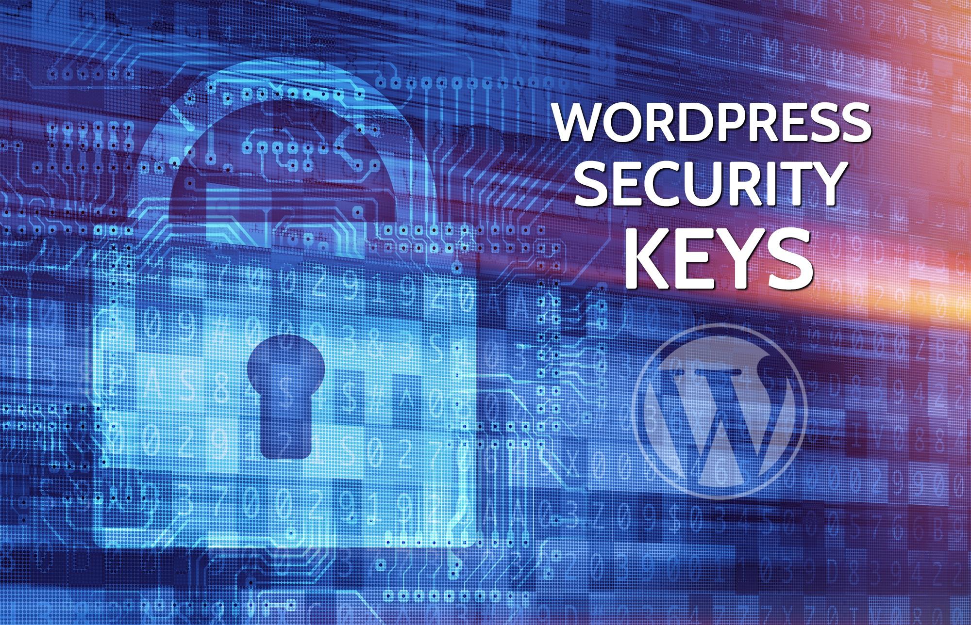 WordPress Security Keys Image