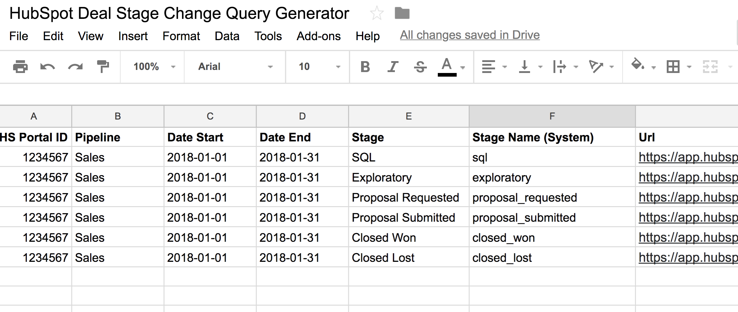 HubSpot Deal Data Query Generator