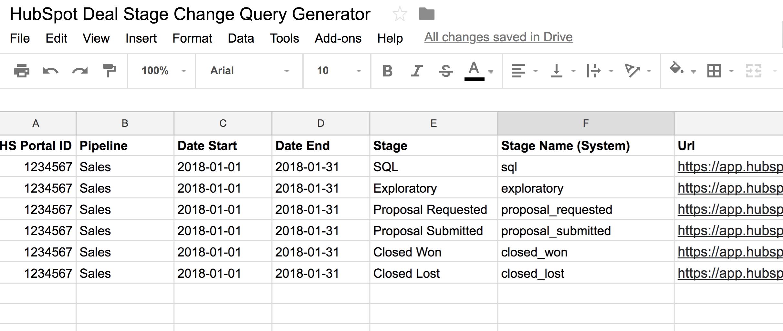 HubSpot Deal Data Query Generator